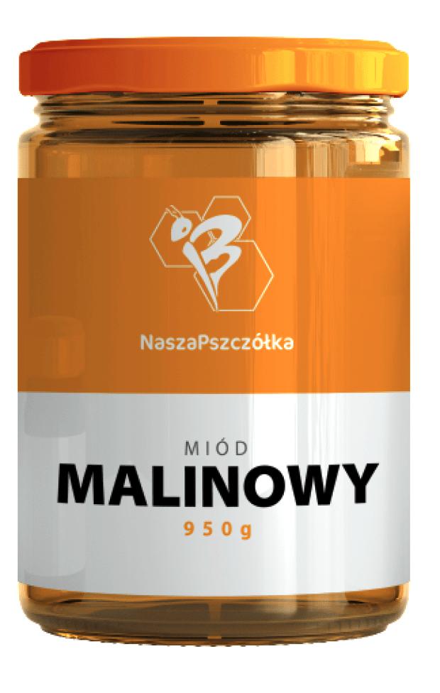 Miód Malinowy 950g